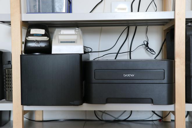 A photo of the two thermal printers next to each other.